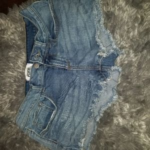 Pink jean shorts size 4